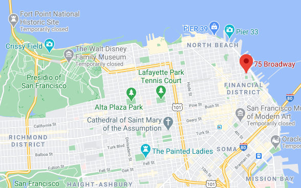 Map showing Nichols Law office location
